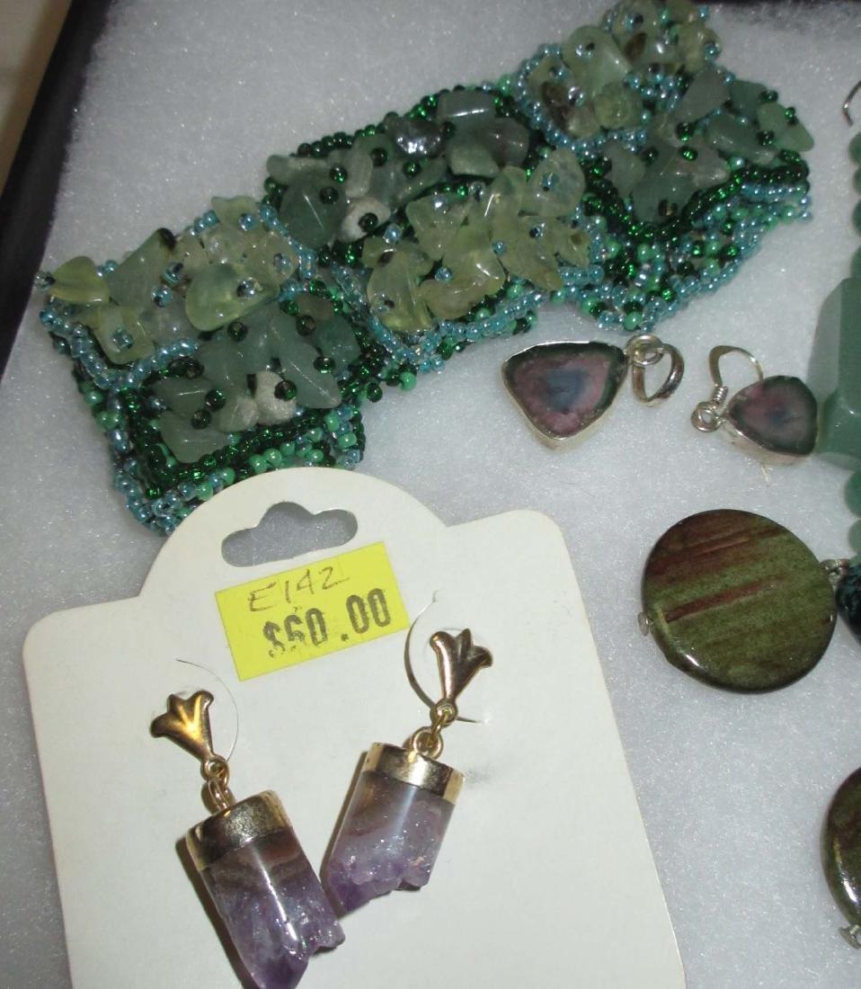 Jadeite & Amethyst Bracelets, Pendants & Earrings - 2