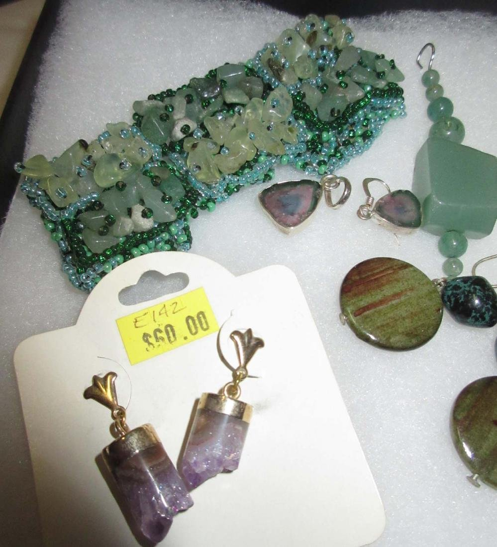 Jadeite & Amethyst Bracelets, Pendants & Earrings - 4