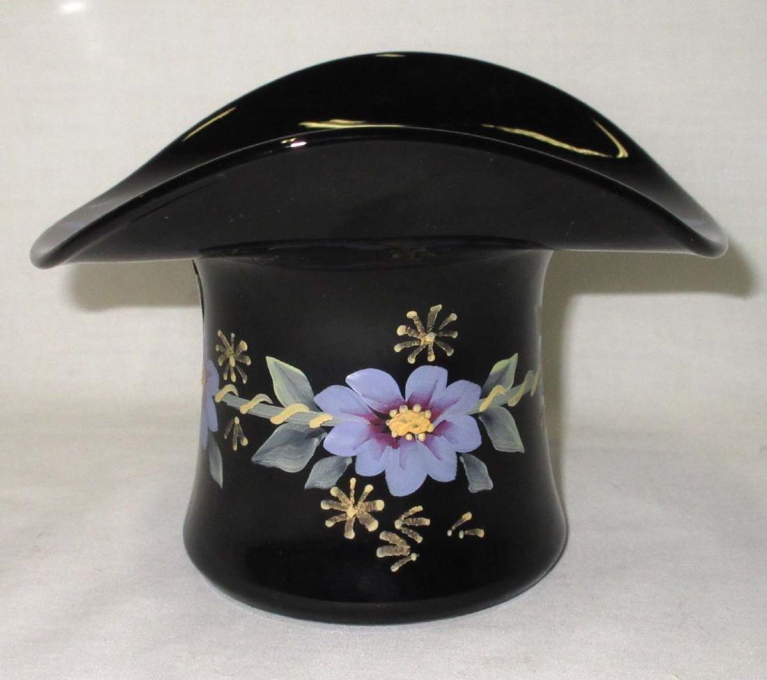 Fenton H.P. Hat Vase Artist Sgnd