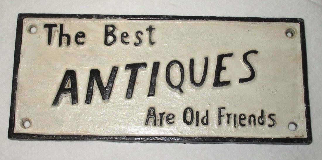 Modern Cast Iron Antiques Sign