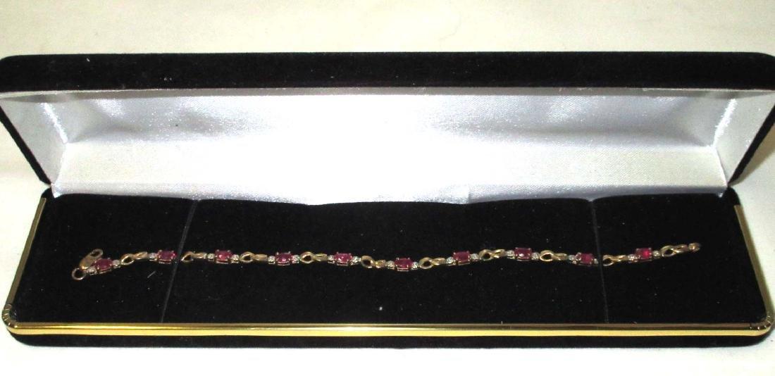 10K Gold Ruby Bracelet