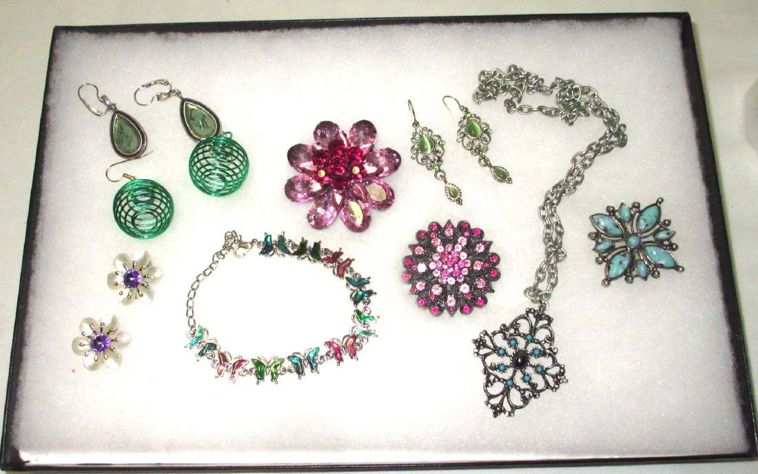 Lg collection Rhinestone & Faux Turquoise Jewelry