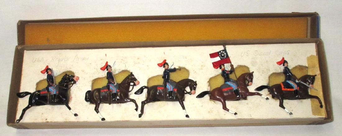5 Lead Soldiers US Signal Corps w/ Horses