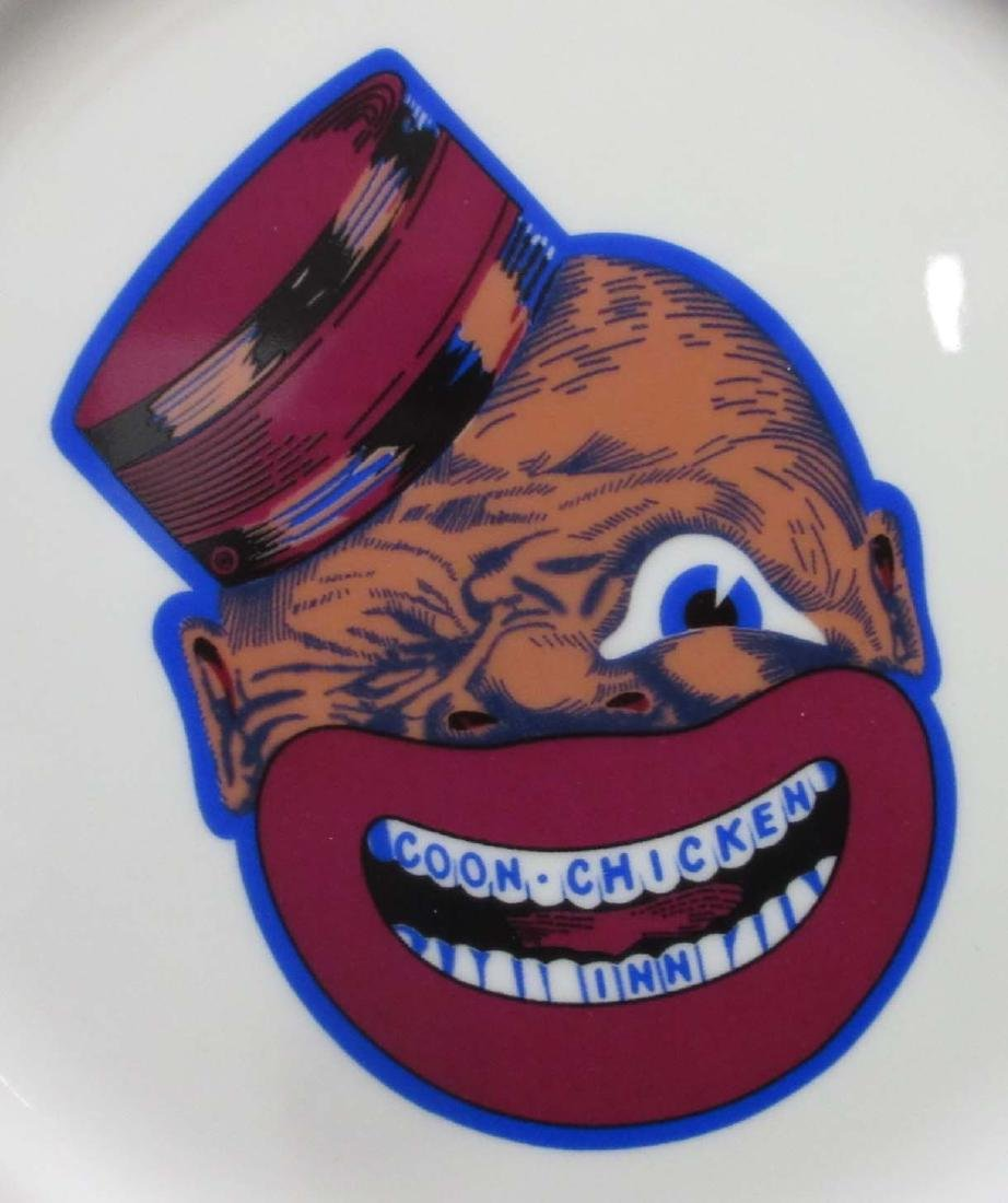 2 modern Coon Chicken Inn Plates - 2