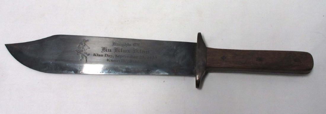 Modern KKK Bowie knife