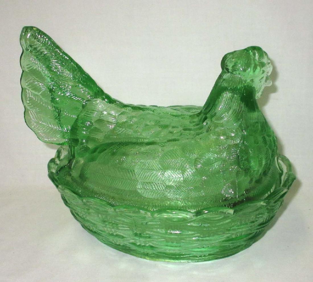Green Hen on Nest - 2