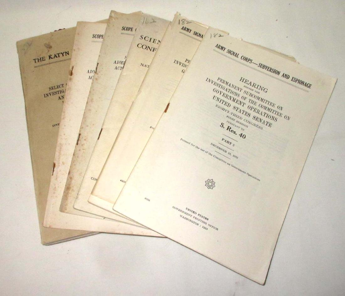 Lot of 1949-57 Hearings of Espionage & Katyn Forest