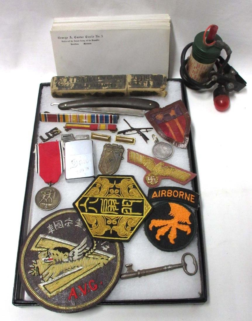 Lot of Misc. Military items inc. German Badge & Patch