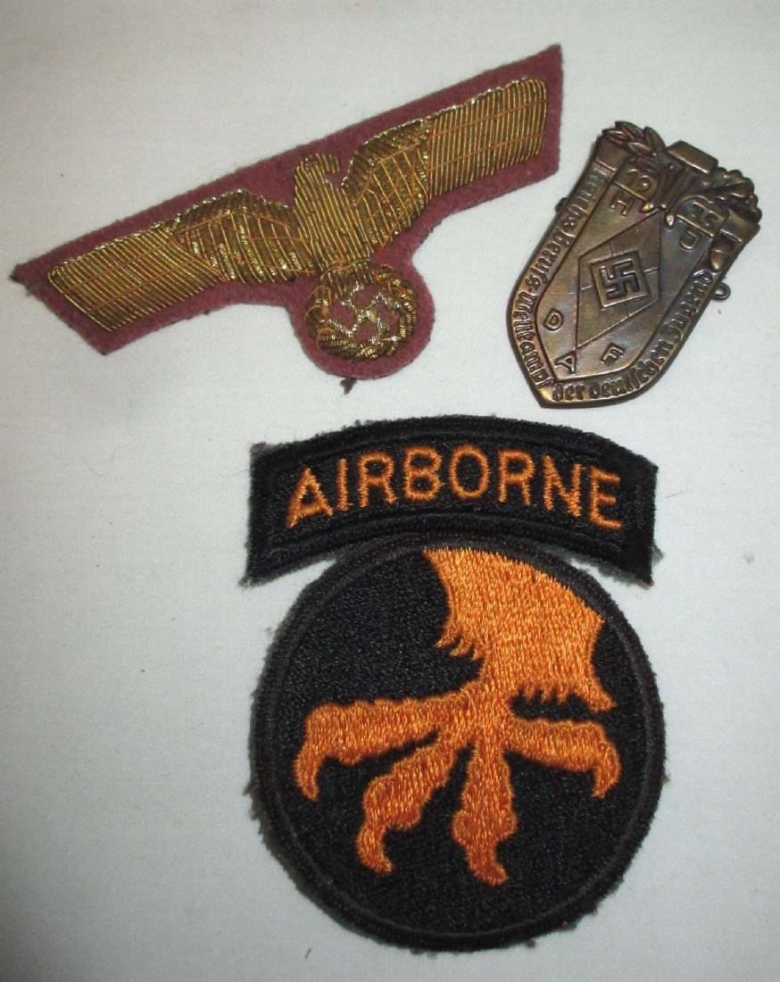 Lot of Misc. Military items inc. German Badge & Patch - 2