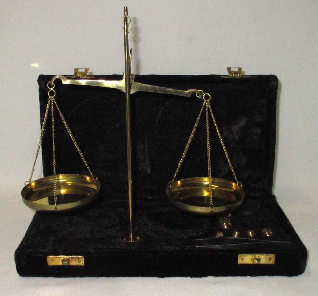 Modern Brass Gold Scales in case