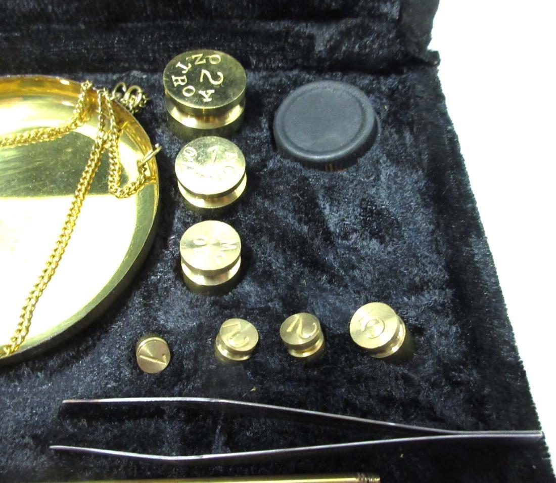 Modern Brass Gold Scales in case - 3