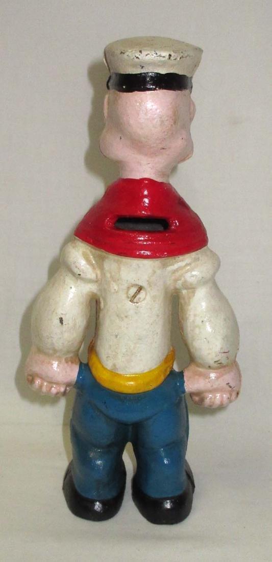 Modern Cast Iron Popeye Bank - 2