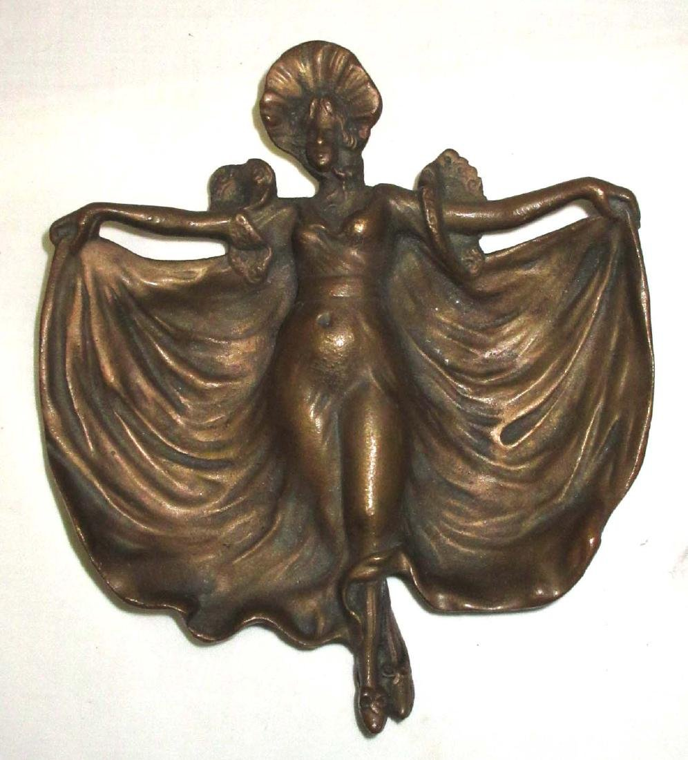 Antique Bronze Naughty Lady Tray