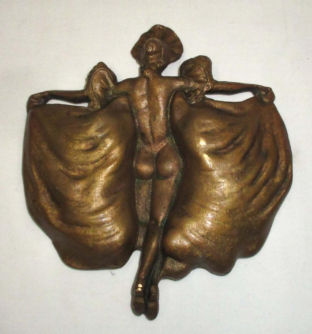 Antique Bronze Naughty Lady Tray - 2