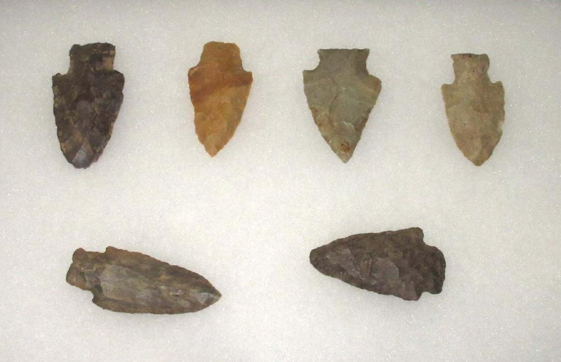 Lot Of Authentic Indian Arrowheads