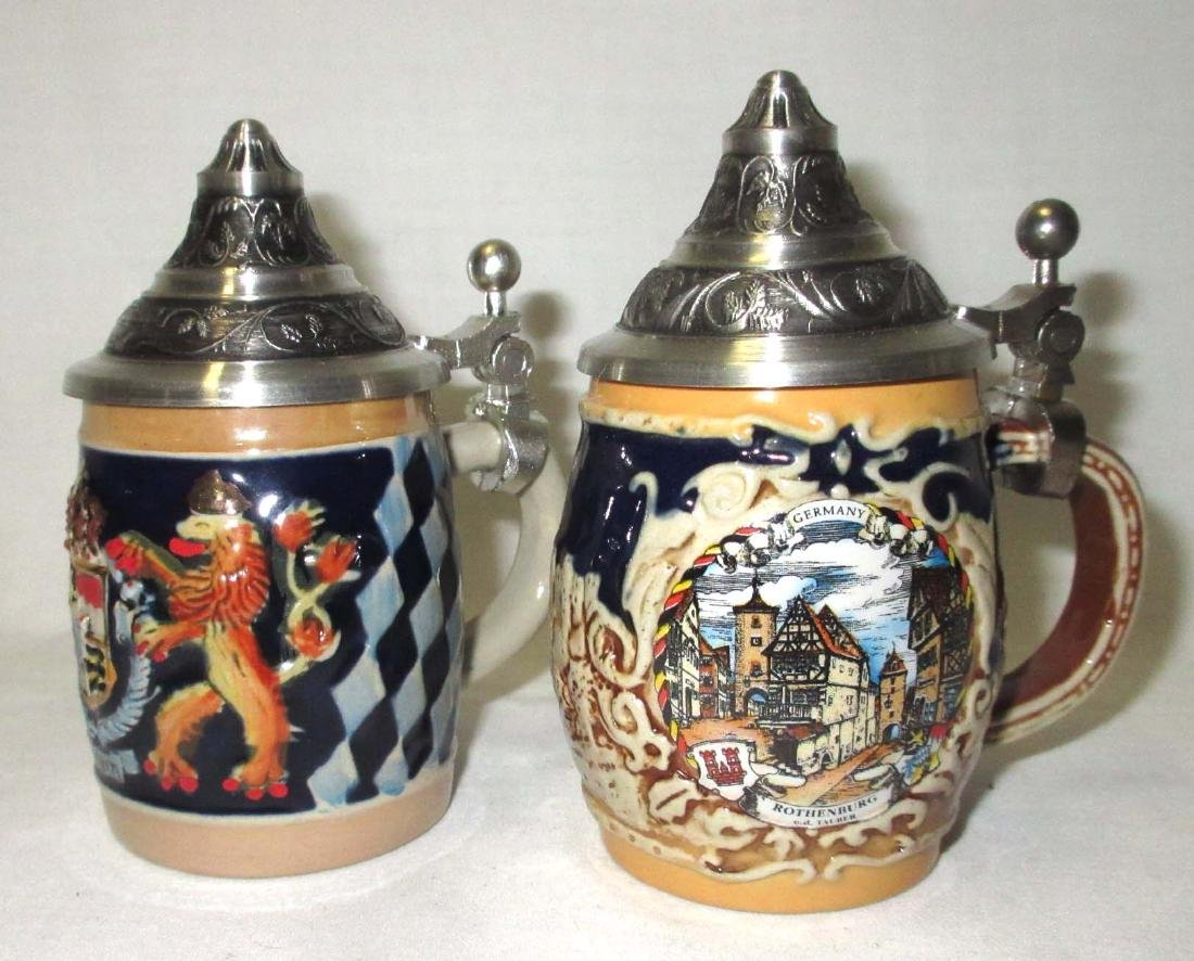 2 Miniature German Beer Steins