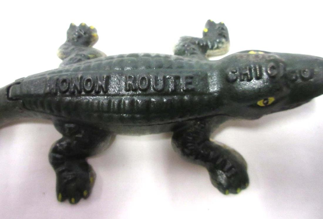 Modern Cast Iron Monon Route Hinged Lid Alligator - 3