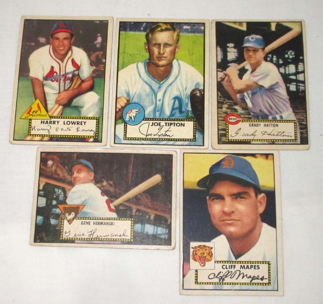 (5) 1952 Topps Baseball Cards