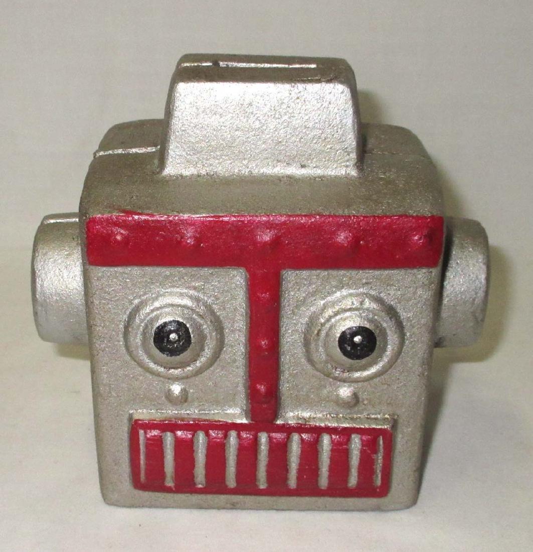 Modern Cast Iron Robot Bank