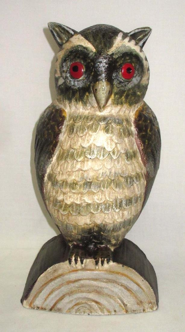 Modern Cast Iron Owl Door Stop