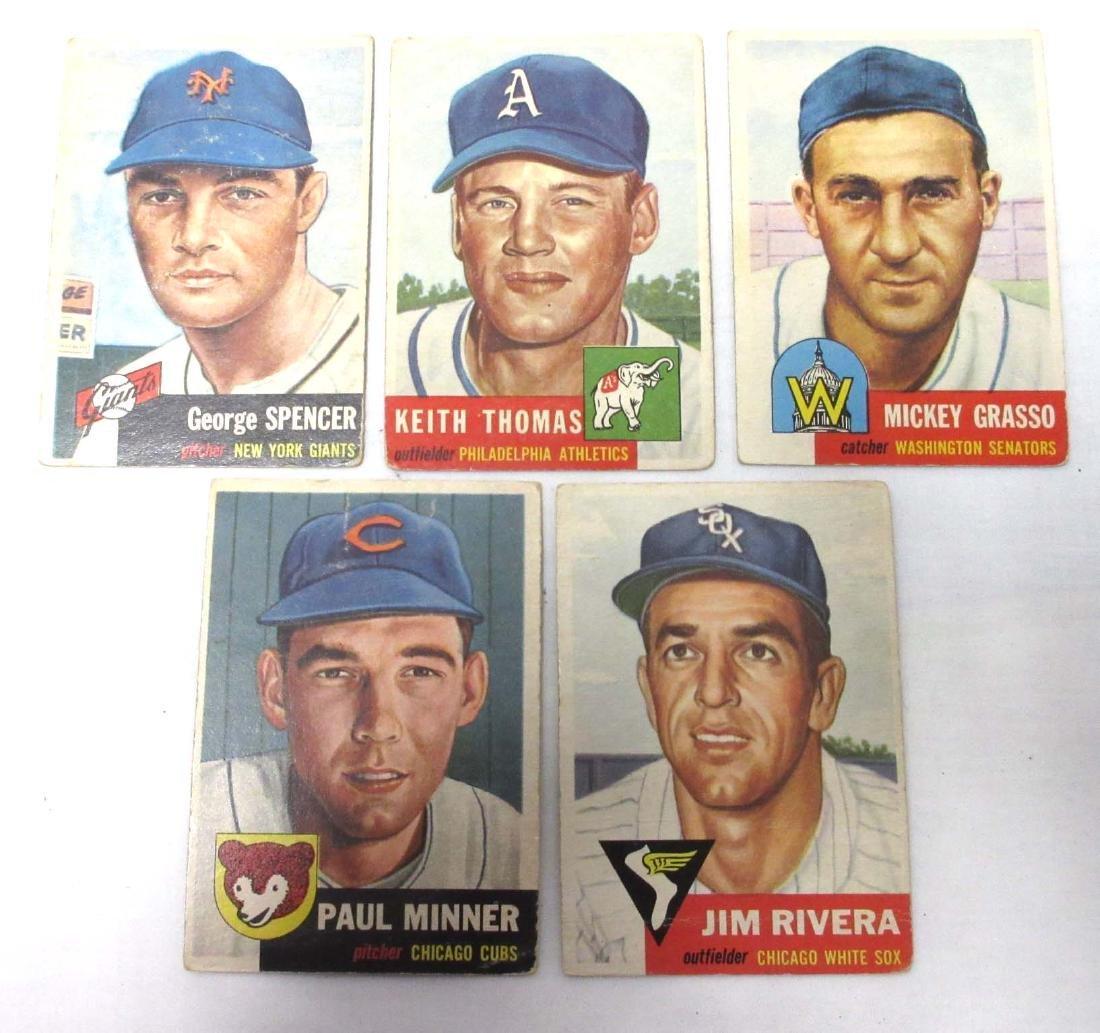 (5) 1953 Topps Baseball Cards