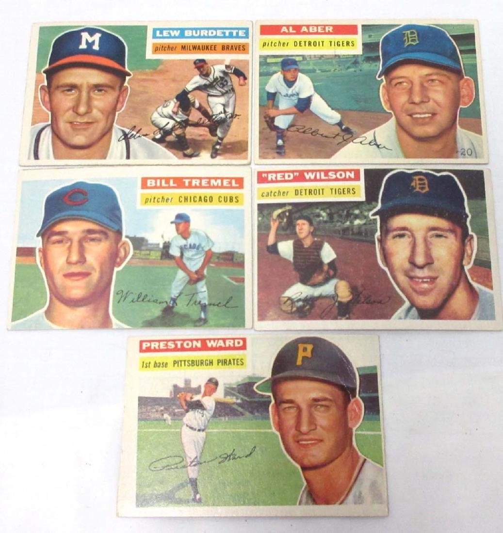 (5) 1956 Topps Baseball Cards