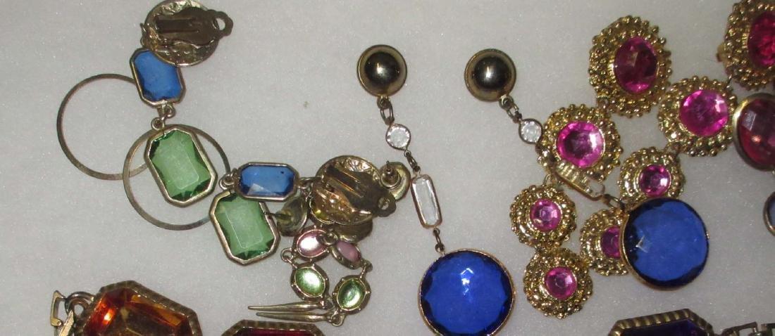 11 pc. Bold Multi Colored Rhinestone Jewelry - 3