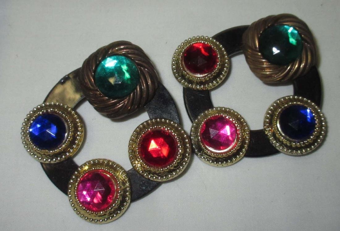 11 pc. Bold Multi Colored Rhinestone Jewelry - 5