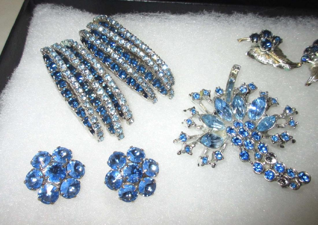 6 piece Lovely Ice Blue Rhinestone Jewelry - 2