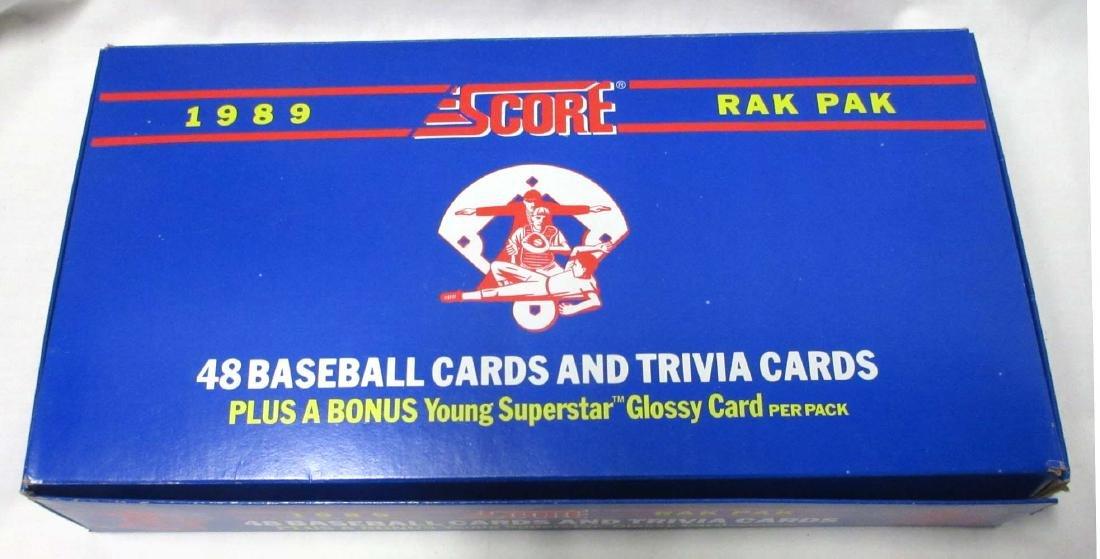 Factory Box 1989 Score Baseball Rak Paks