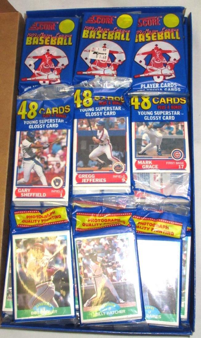 Factory Box 1989 Score Baseball Rak Paks - 2