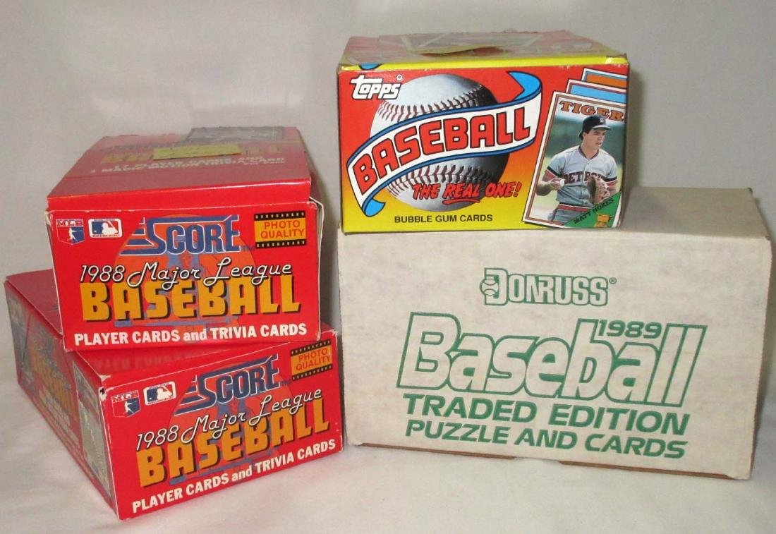 4 Boxes Misc. Baseball Cards