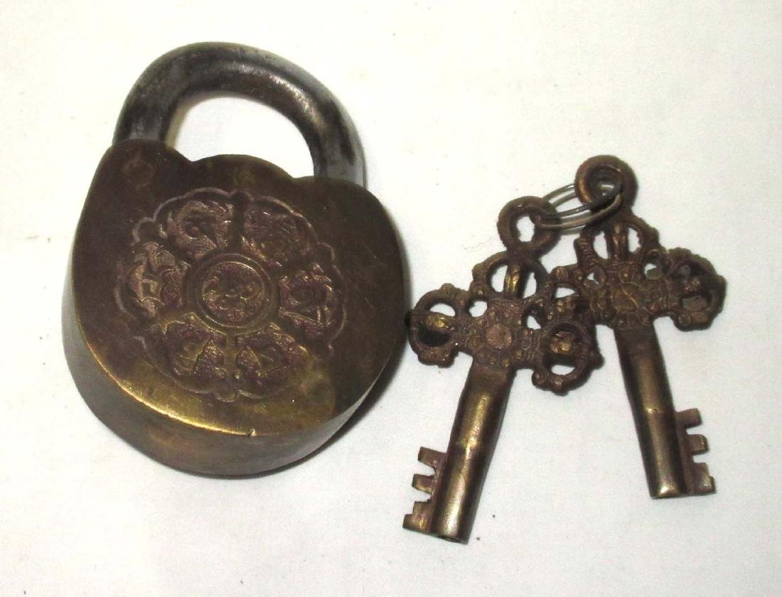 Modern Ornate Lock & Keys - 2