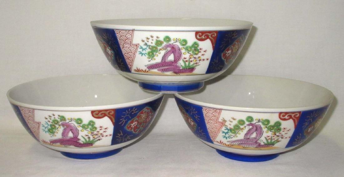 3 Porcelain Oriental Bowls