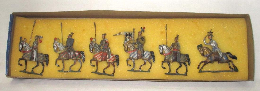 Lot of 6 Mounted Lead Crusader Knights