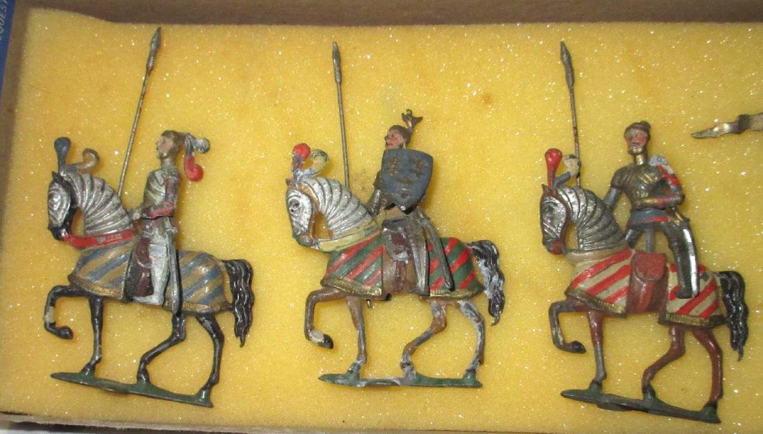 Lot of 6 Mounted Lead Crusader Knights - 2
