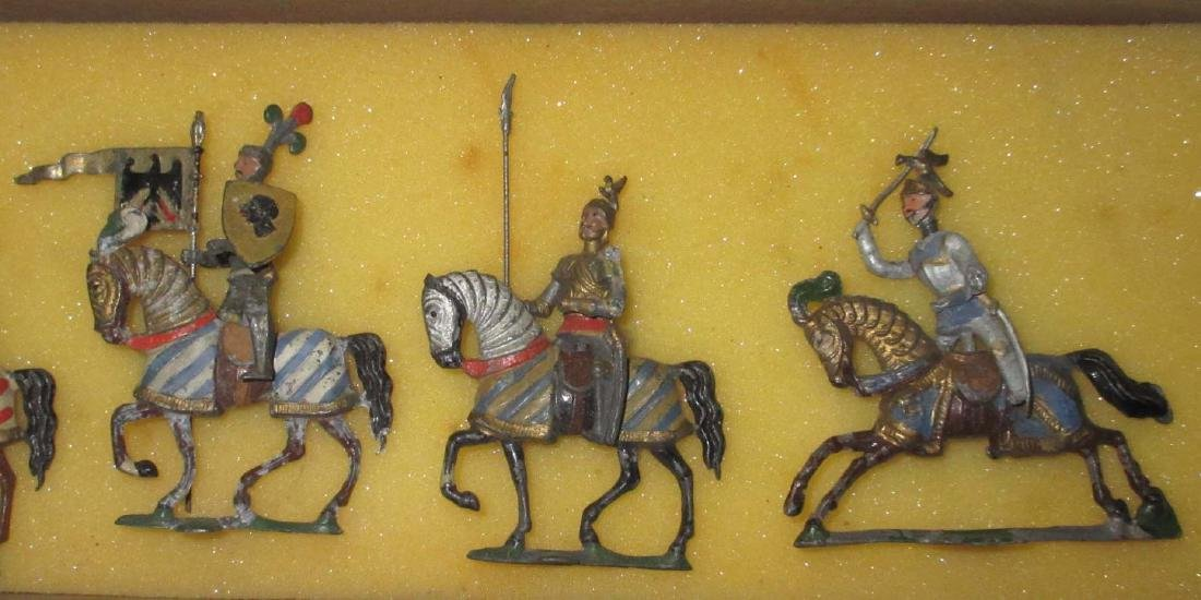 Lot of 6 Mounted Lead Crusader Knights - 3