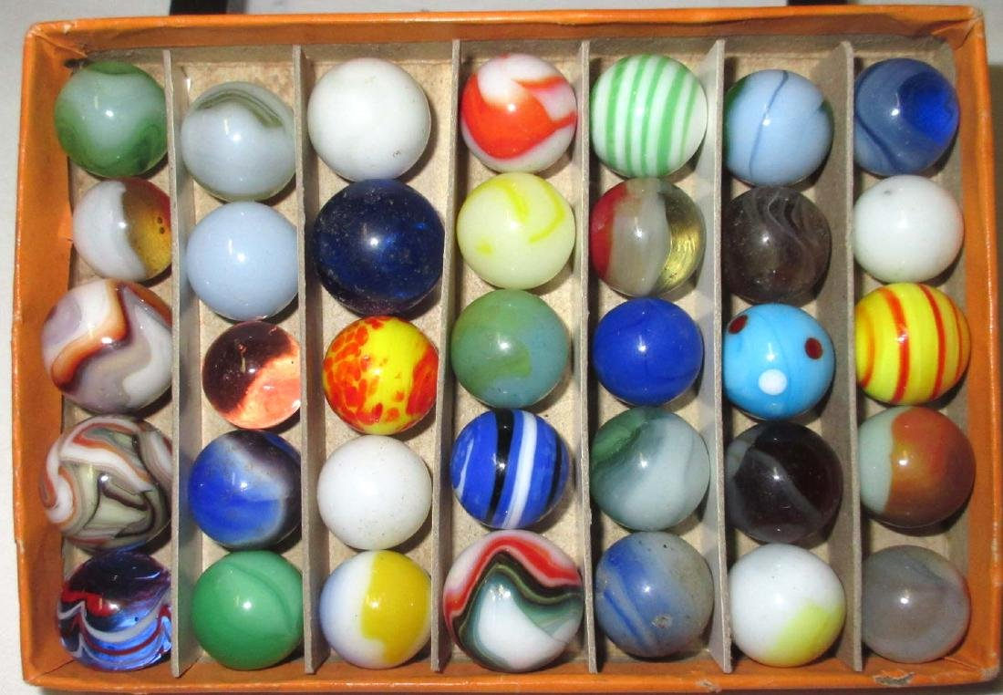 Lot of 35 Marbles