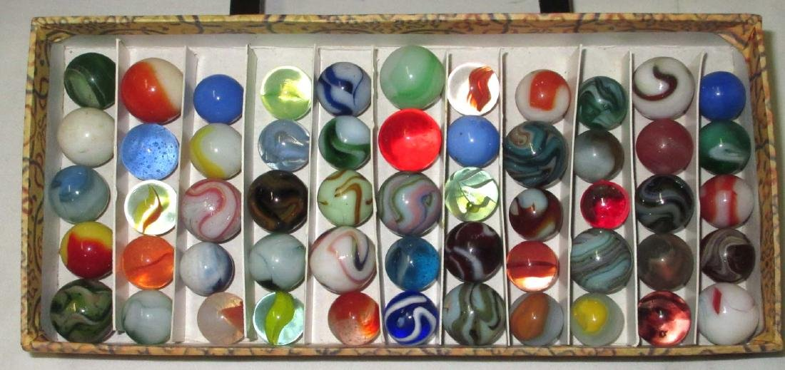 Lot of 55 Marbles