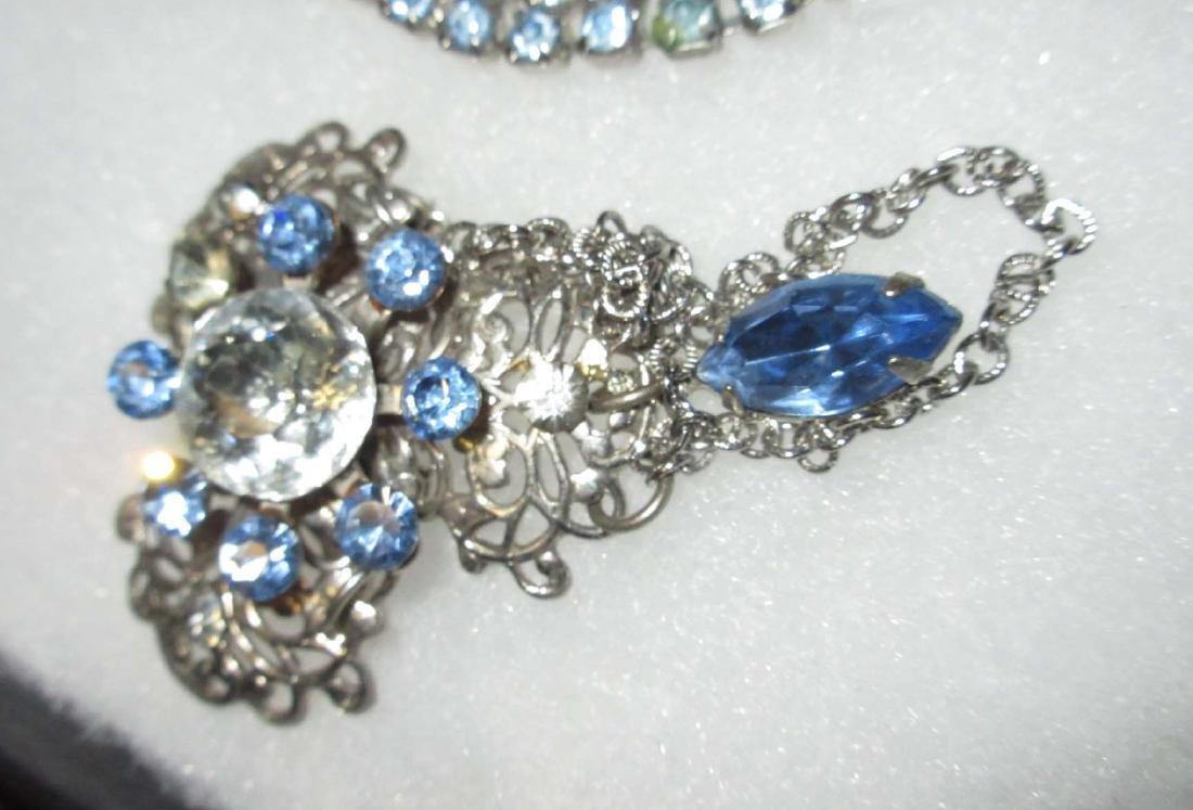 Delicate Ice Blue Rhinestone Jewelry - 2
