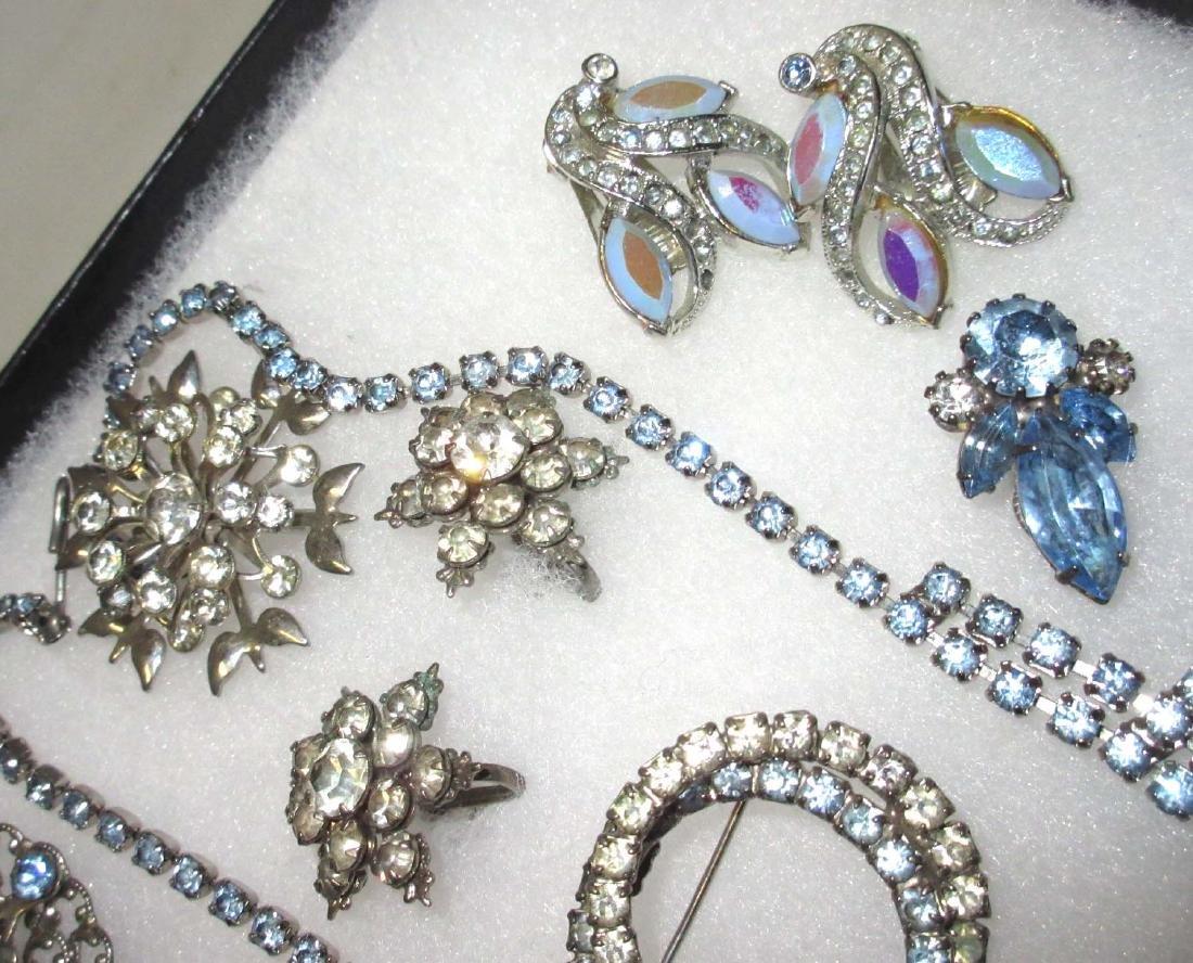Delicate Ice Blue Rhinestone Jewelry - 3