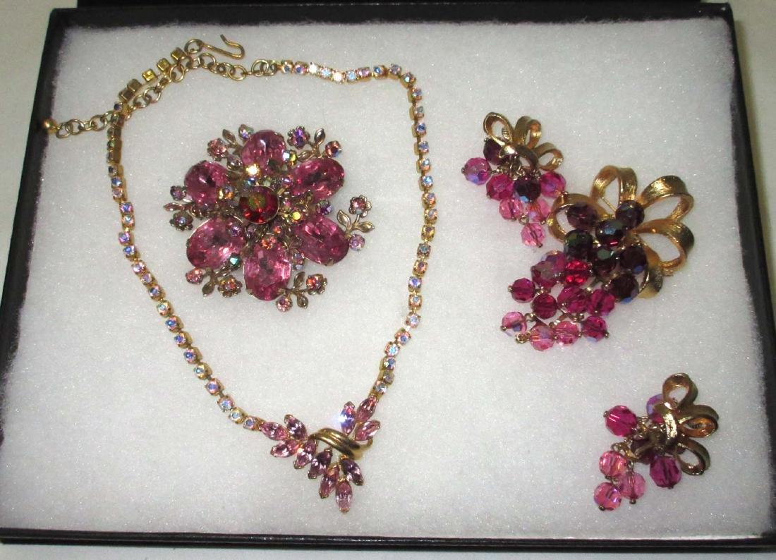 Quality Dimensional Pink Rhinestone Jewelry