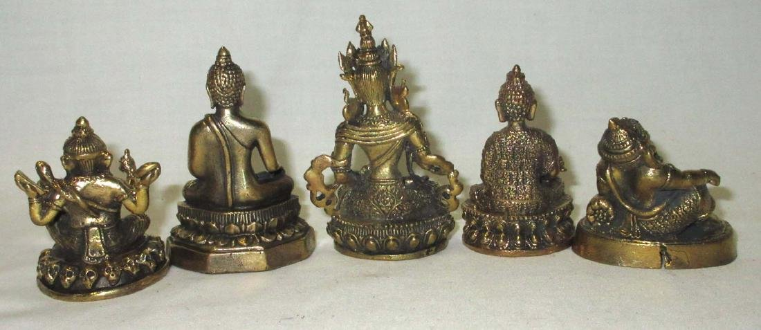 5 Oriental Cast Metal Figures - 2