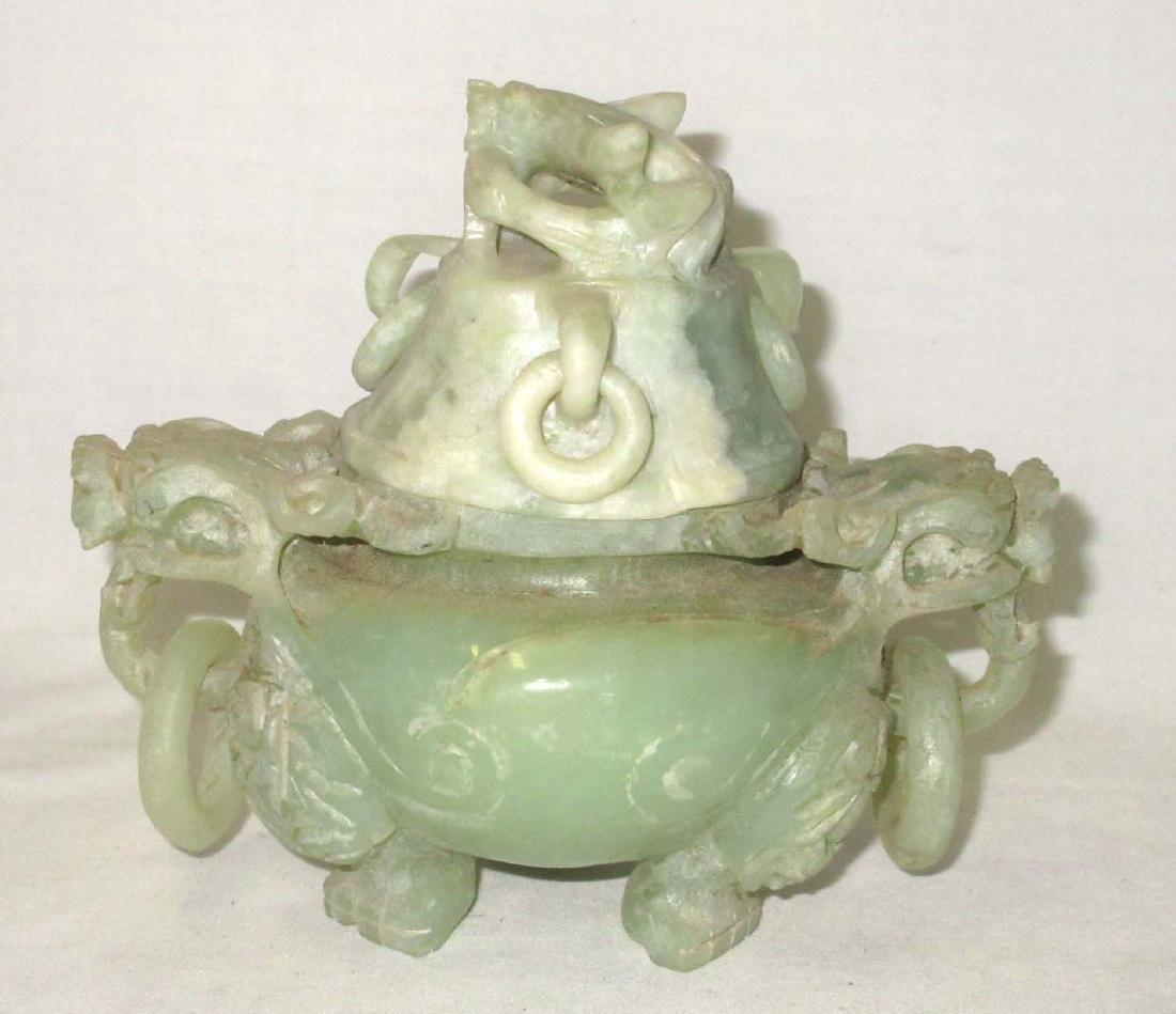 Modern Carved Jade Oriental Urn