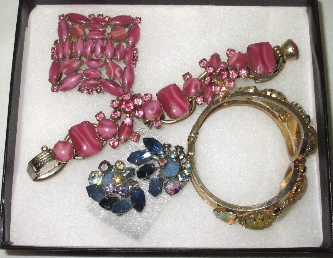 4 pc D & E Juliana Bracelets, Earrings & Brooch