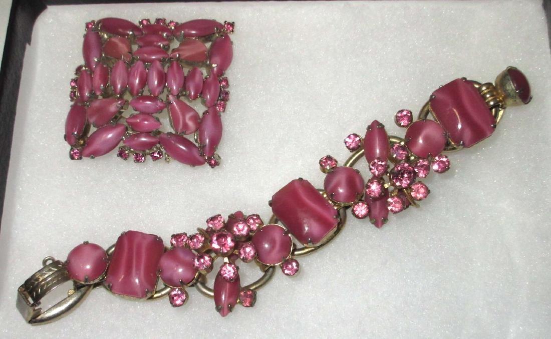 4 pc D & E Juliana Bracelets, Earrings & Brooch - 2