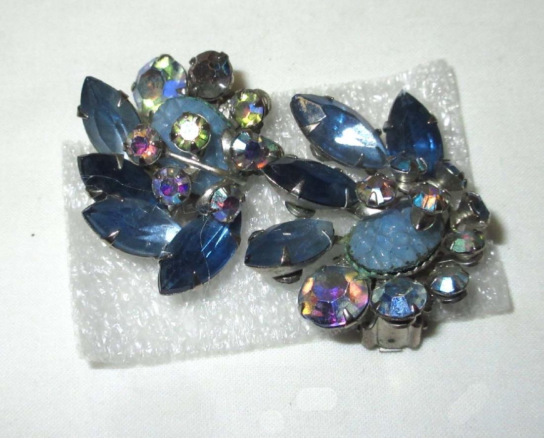 4 pc D & E Juliana Bracelets, Earrings & Brooch - 3