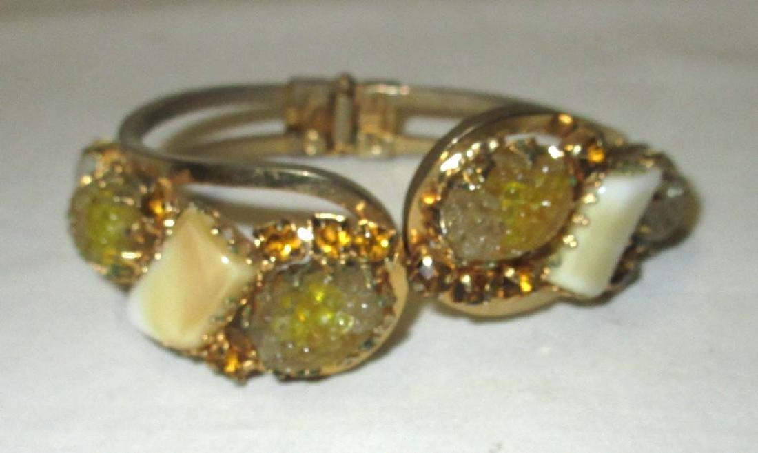 4 pc D & E Juliana Bracelets, Earrings & Brooch - 4