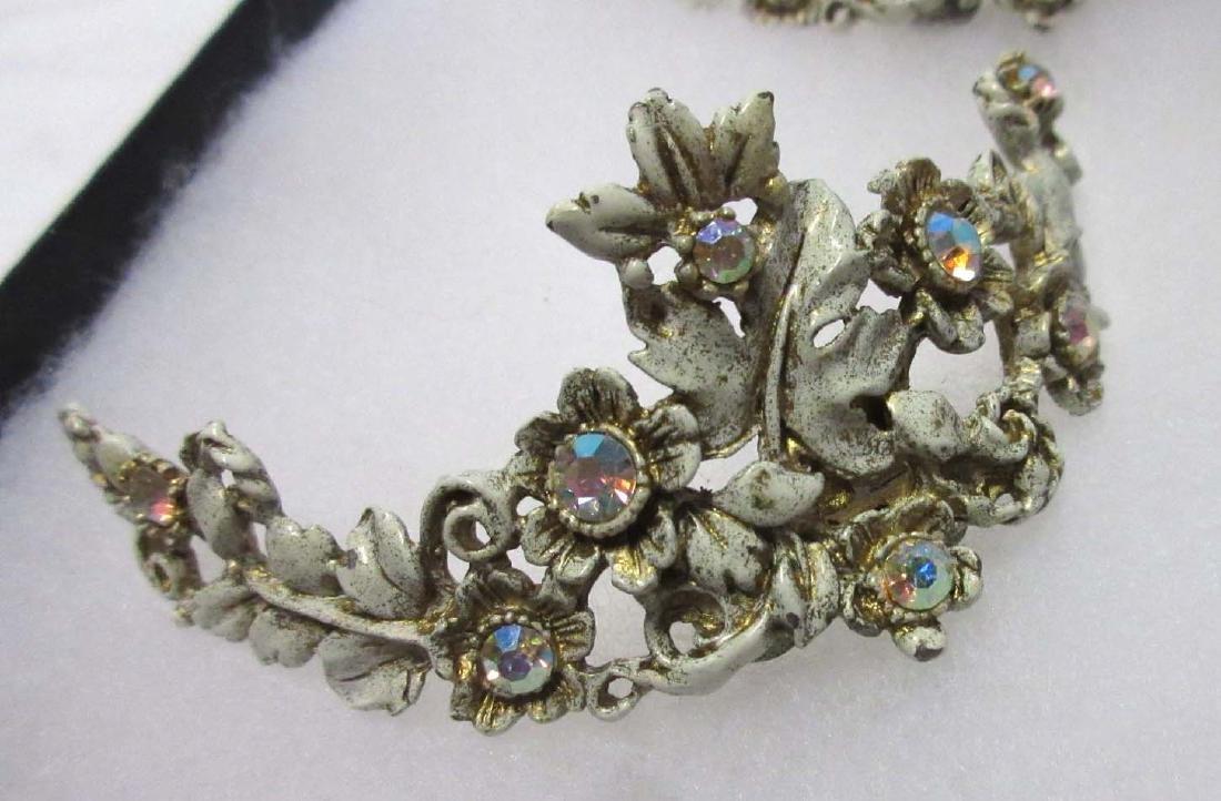 Art Nouveau Beaded Bag, Shoe Clips, Necklace - 2