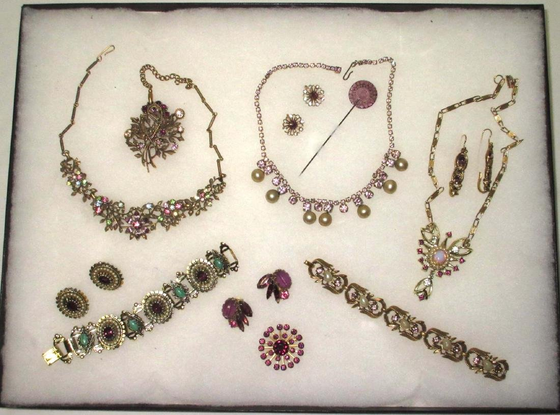 Feminine Shades of Purple 12 pc Rhinestone Jewelry